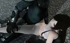 Anime girl turning into sex slave and fucked by monsters