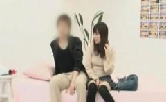Subtitled Japanese amateur couple sex game interview