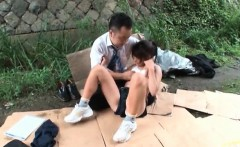 Nasty asian slut gets horny