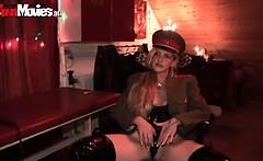 Kinky blonde German mistress playing dirty