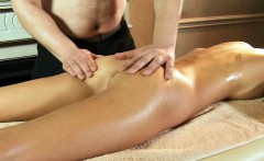 Virgin Masha gets massage