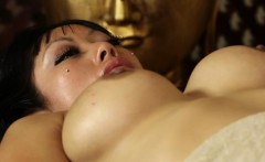 Busty asian Gaias topless trick massage
