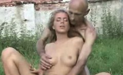 Teen pussy licked by creepy old man