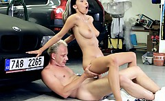 Tracy Sucks A Big Hot Load Of Cum All Over Her Face
