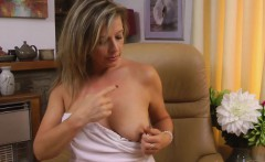 Silky Thighs Lou is Naughty in Stockings and Garters
