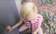 Blonde Miley May fucks stranger for cash