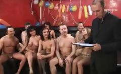 Party show with all these babes blowing and getting nailed on camera