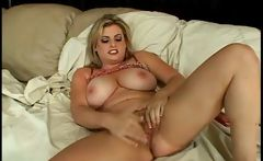 Kala Prettyman is a chubby blonde with big hooters who does a dildo
