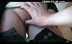 blonde teen Noemie first porn casting
