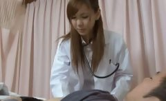 Hot Japanese Doctor has sex