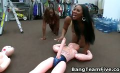 Big assed black girl fucking ans sucking