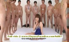 Yuma Asami asian babe gives an amazing blowjob