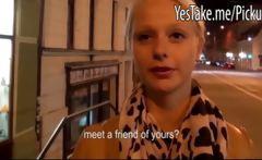 Czech girl likes the idea of public anal