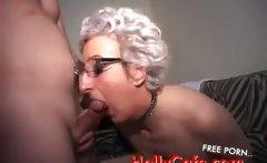 Horny mature italian in threesome