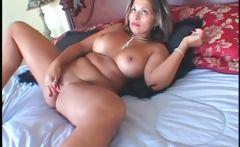 BBW seductress masturbating pussy with vibrator