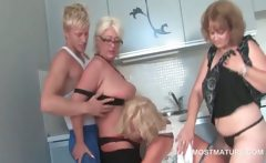 Mature Trio Sucking Teen Dick With Lust In Group Sex