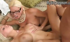 Rikki Six and stepmom Nikita fuck her BF