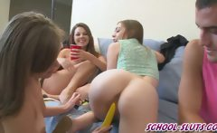 Horny college girls play truth or dare