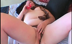 BBW tramp fucking her hungry twat with vibrator